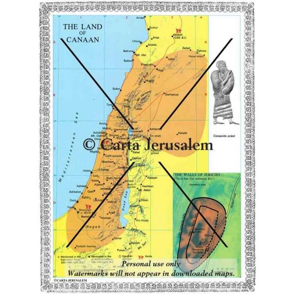 The Land of Canaan The Walls of Jericho Carta Jerusalem
